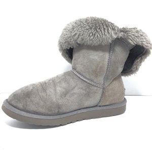 UGG 5803 Short Bailey Gray Suede Leather Boots Sz8